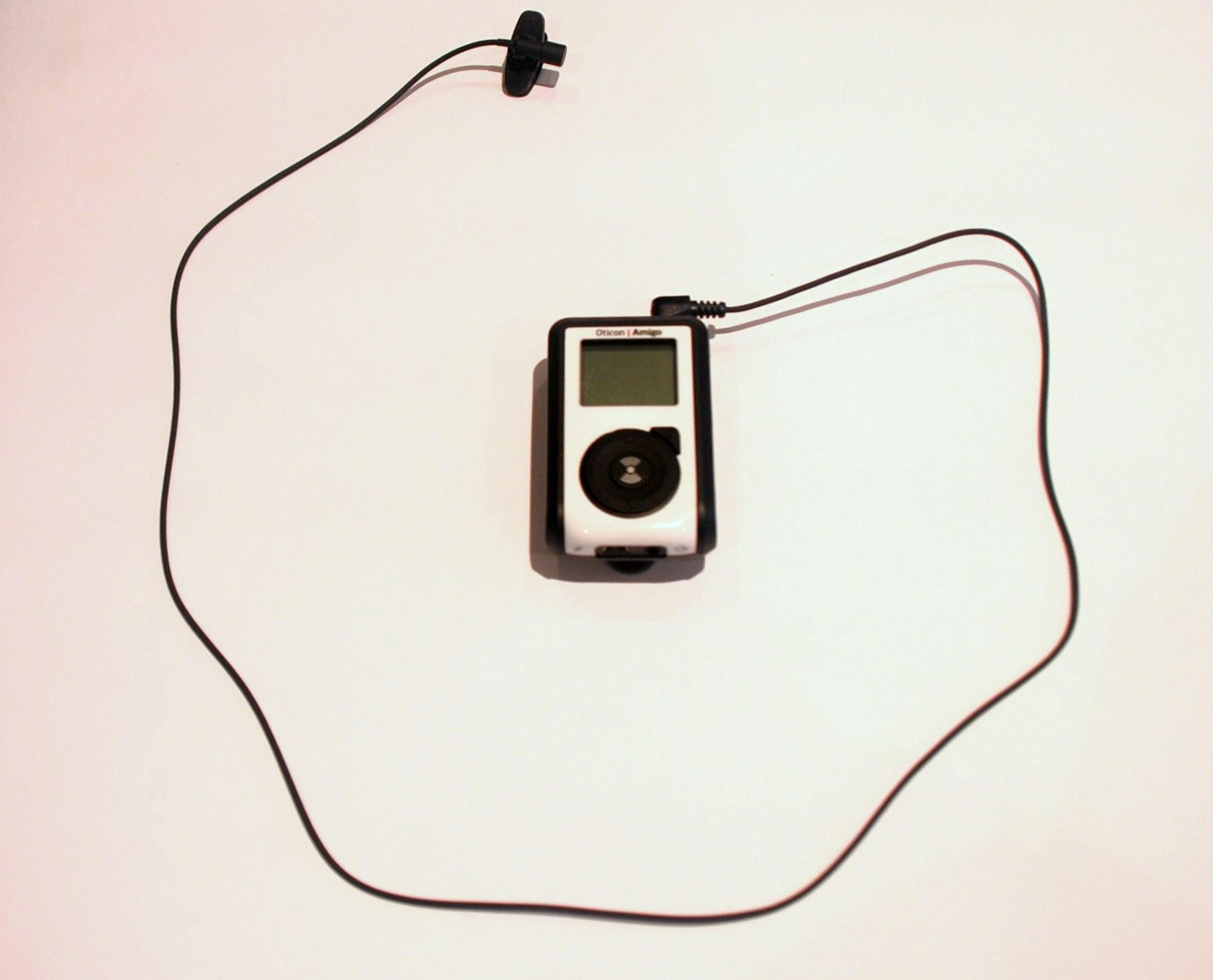 sistema fm con microfono en solapa
